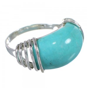 Authentic Sterling Silver Turquoise Southwest Jewelry Ring Size 6 QX79458