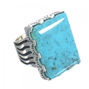 Genuine Sterling Silver And Turquoise Southwest Ring Size 4-3/4 WX62151