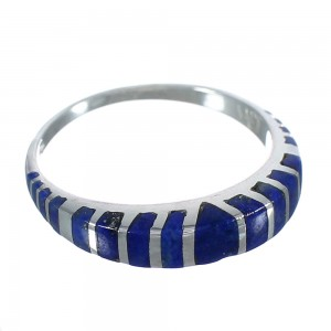 Authentic Sterling Silver And Lapis Southwest Ring Size 6-3/4 VX61033