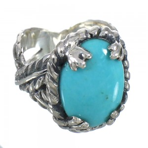 Turquoise And Authentic Sterling Silver Ring Size 5-1/2 RX62019