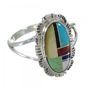 Silver And Multicolor Ring Size 4-3/4 YX75012