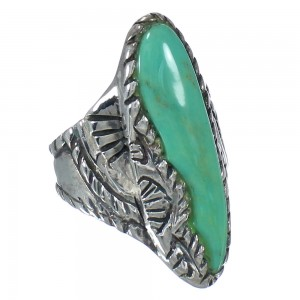 Authentic Sterling Silver Southwest Turquoise Ring Size 7-3/4 RX62748