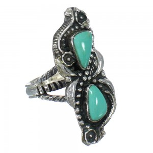 Sterling Silver And Turquoise Southwest Ring Size 8-1/4 RX62873