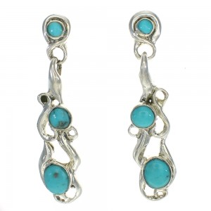 Turquoise Silver Jewelry Post Dangle Earrings MX63441