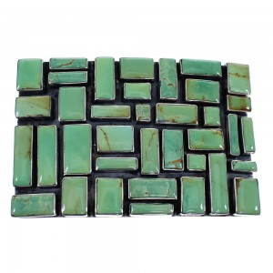 Turquoise Genuine Sterling Silver Southwestern Belt Buckle AX78258