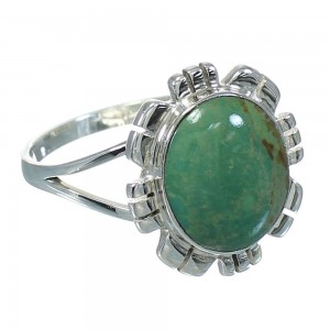 Turquoise And Southwest Silver Jewelry Ring Size 7-1/4 VX64144