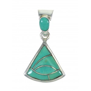 Sterling Silver Turquoise Inlay Pendant MX65360