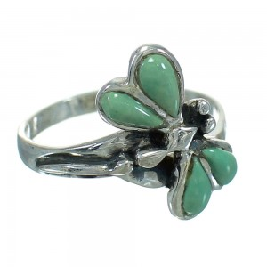 Turquoise Southwestern Silver Dragonfly Ring Size 7-1/4 AX79471
