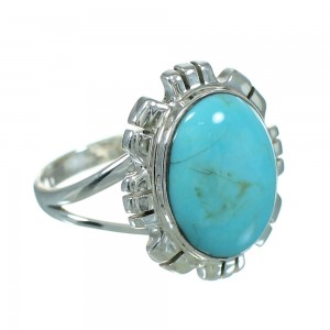 Turquoise And Silver Southwestern Ring Size 4-3/4 YX69962
