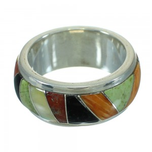 Sterling Silver WhiteRock Sunset Multicolor Ring Size 6-3/4 QX70556