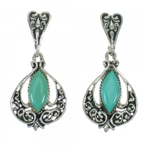 Sterling Silver Turquoise Southwest Jewelry Post Dangle Earrings RX65005