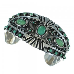 Turquoise And Sterling Silver Cuff Bracelet RX78357