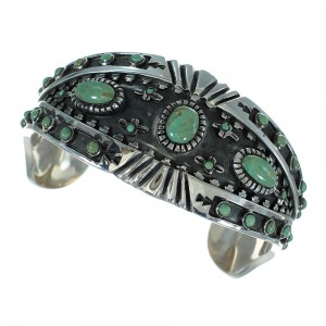 Genuine Sterling Silver Turquoise Cuff Bracelet RX78362