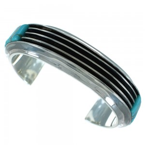 Turquoise Silver Southwestern Jewelry Cuff Bracelet AX78134
