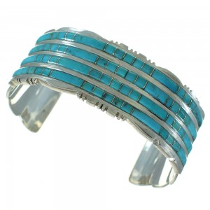 Southwest Turquoise Sterling Silver Cuff Bracelet AX78158