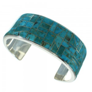Southwestern Turquoise Silver Cuff Bracelet AX78236