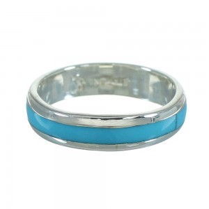 Turquoise Genuine Sterling Silver Ring Size 5-3/4 RX68868