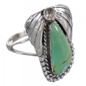Authentic Sterling Silver Southwest Turquoise Flower Ring Size 5-1/2 QX80727