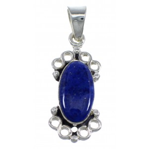 Lapis And Authentic Sterling Silver Southwest Pendant YX67255