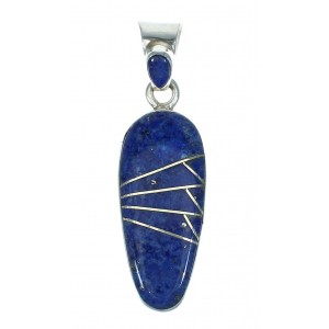 Southwestern Sterling Silver And Lapis Pendant YX67369