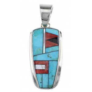 Sterling Silver And Multicolor Southwestern Pendant YX94738