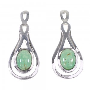 Turquoise Southwest Sterling Silver Jewelry Post Earrings AX94956