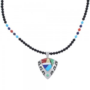 Multicolor Genuine Sterling Silver Waterwave And Arrowhead Necklace Set AX94879