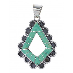 Turquoise Genuine Sterling Silver Pendant AX95488