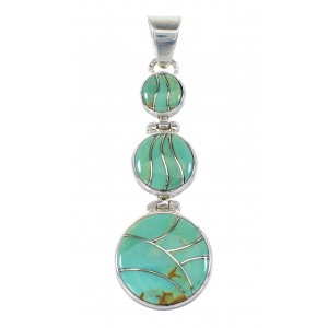Silver Jewelry Southwest Turquoise Pendant AX95549
