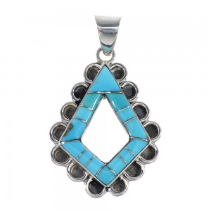 Turquoise Silver Southwestern Jewelry Pendant AX96482