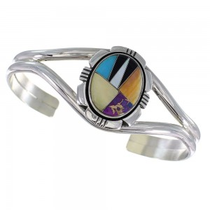 Multicolor And Sterling Silver Cuff Bracelet Jewelry RX95925