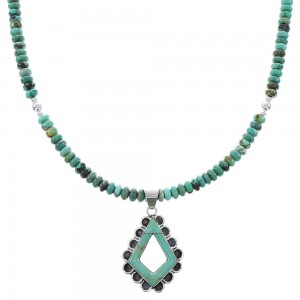 Turquoise Southwest Genuine Sterling Silver Necklace Set AX96118