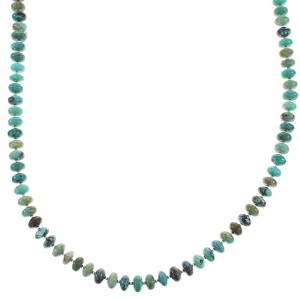Silver Turquoise Navajo Jewelry Bead Necklace AX96510