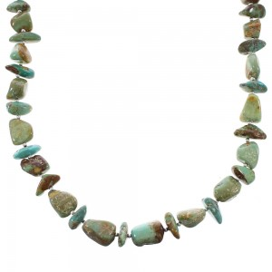 American Indian Silver Turquoise Bead Necklace AX96524