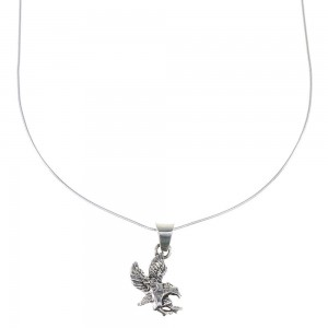 "Sterling Silver Eagle 16"" Snake Chain Necklace Set AX96351"