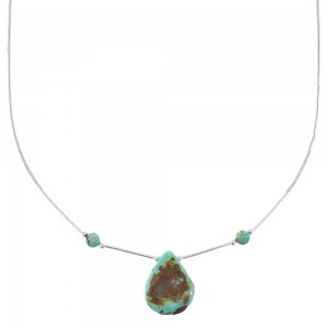 Liquid Sterling Silver Turquoise Tear Drop Necklace AX96708