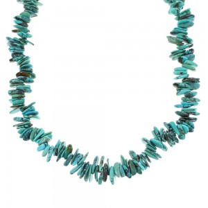 Turquoise Sterling Silver Bead Necklace Jewelry RX96663