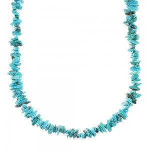 Sterling Silver Southwestern Turquoise Bead Necklace RX96677