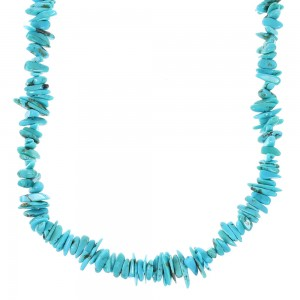 Genuine Sterling Silver Turquoise Southwest Bead Necklace AX97317