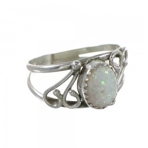 Opal Genuine Sterling Silver Navajo Indian Ring Size 6-1/2 RX100660
