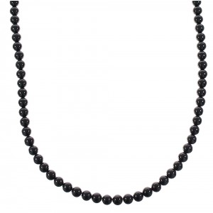Sterling Silver Onyx Southwest Bead Necklace AX98138