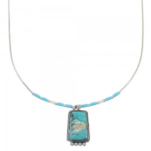 Multicolor Liquid Sterling Silver Necklace RX98428