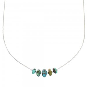 Turquoise And Liquid Silver Necklace RX98448