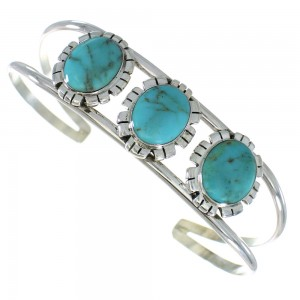Sterling Silver Turquoise Southwest Cuff Bracelet AX99751