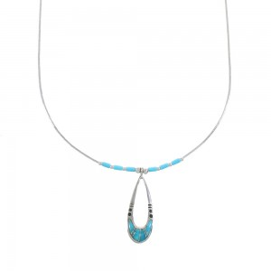 Liquid Sterling Silver Turquoise Necklace AX99745