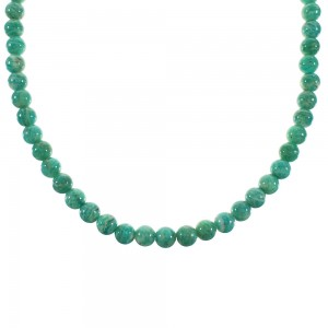 Amazonite Southwestern Sterling Silver Bead Necklace AX99891