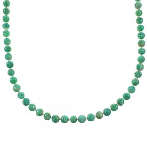 Amazonite Navajo Silver Bead Necklace AX99952