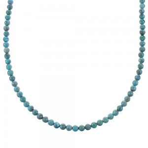Sterling Silver And Turquoise Bead Necklace AX100322
