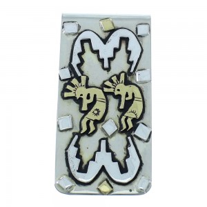 Tommy And Rose Singer Kokopelli 12KGF Sterling Silver Navajo Money Clip AX101186