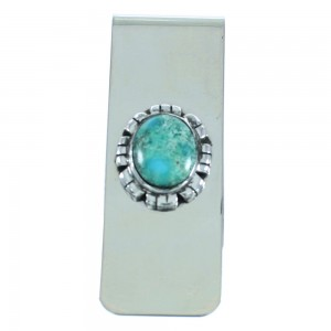 Turquoise Silver Southwestern Money Clip AX102014